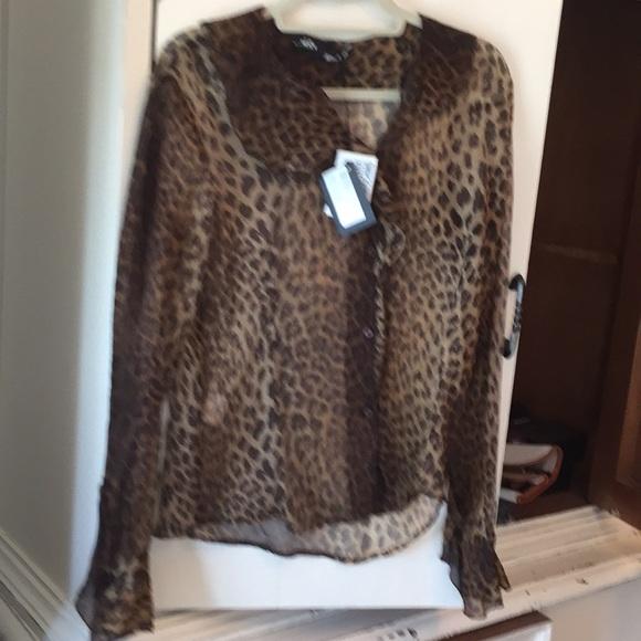 6664cae6b6a08c Moschino leopard silk blouse